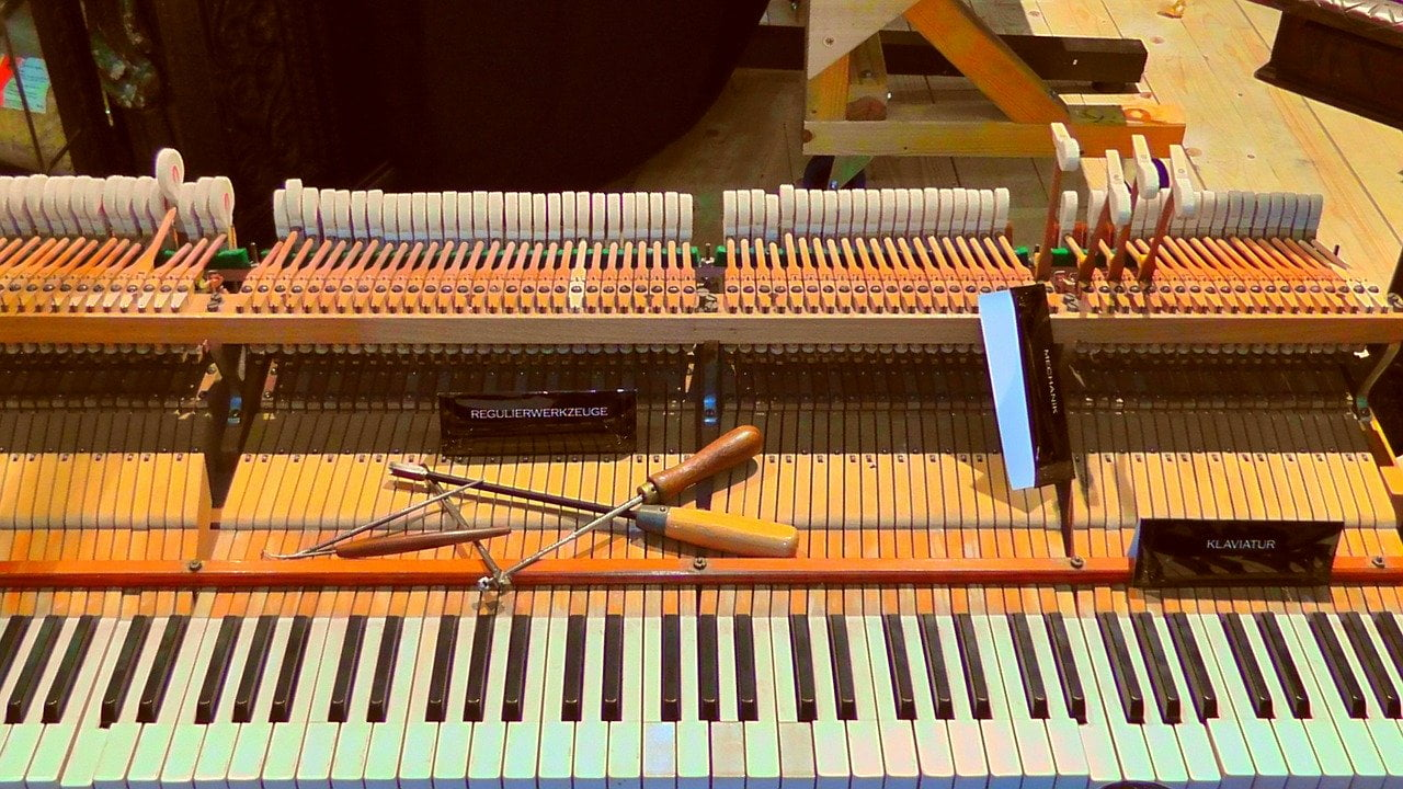 Grand piano action being repaired and serviced. Melbourne, Doncaster, Boxhill, pakanham, Carnegie