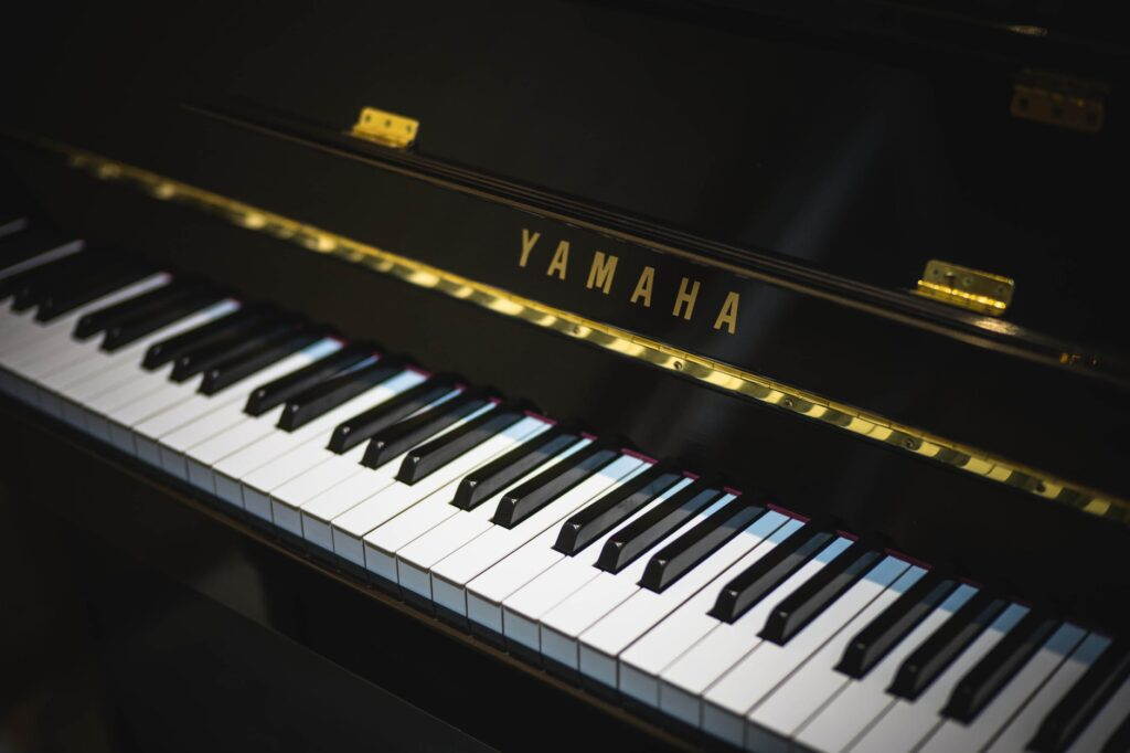 black yamaha upright for sale in box hill